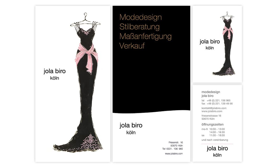 Flyer DIN lang und Visitenkarte - Köln Grafikdesign